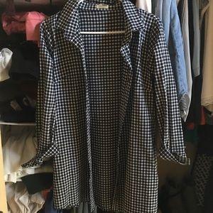 LF plaid shirt dress